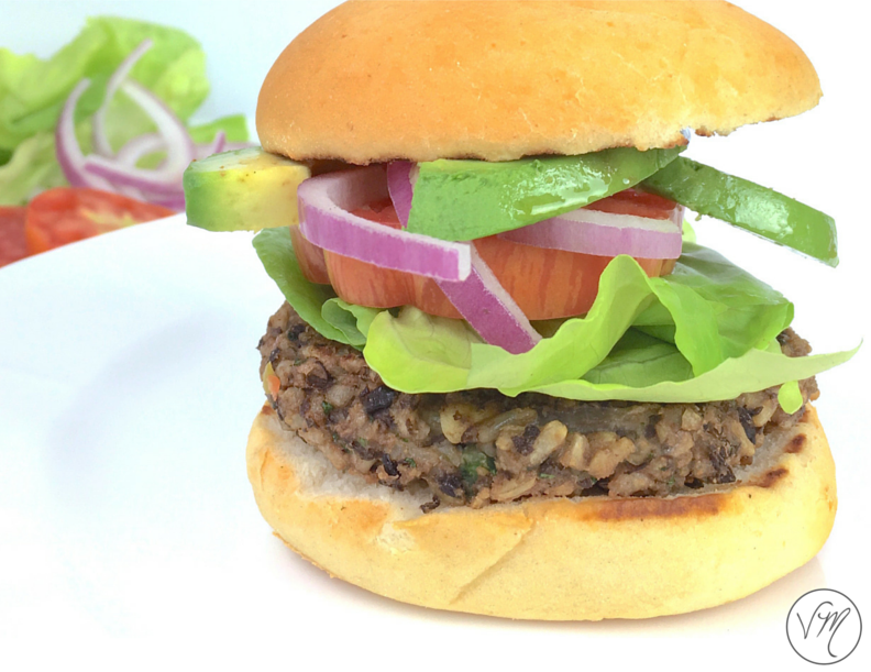 Black Bean and Brown Rice Burgers!