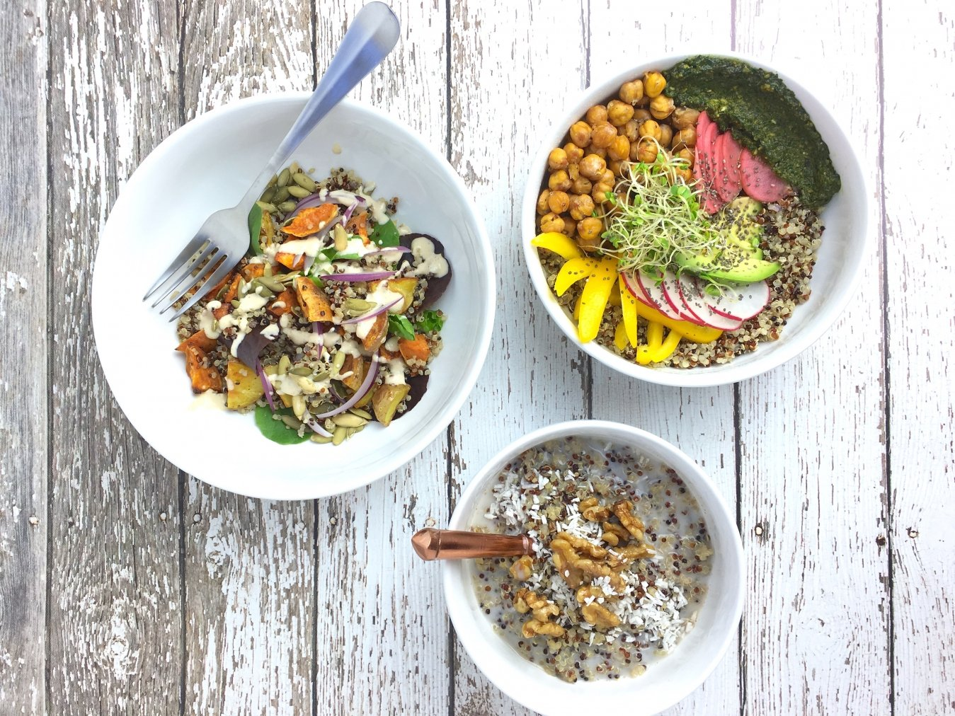 Quinoa Power Bowls by Vicki Marquez