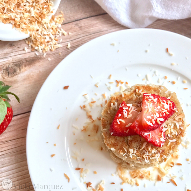 Toasted Coconut Strawberry Shortcakes
