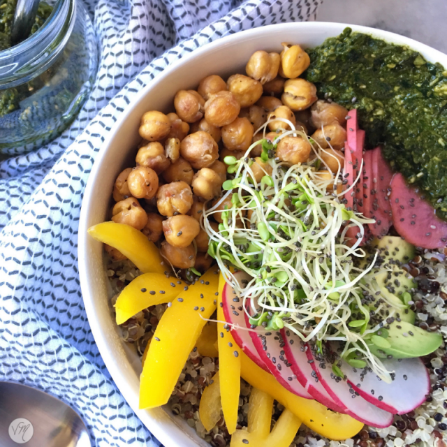 Quinoa Pesto Power Bowl