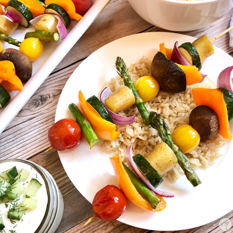 Roasted Veggie Skewers