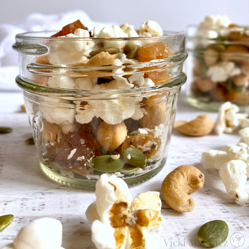 Tropical Popcorn Trail Mix