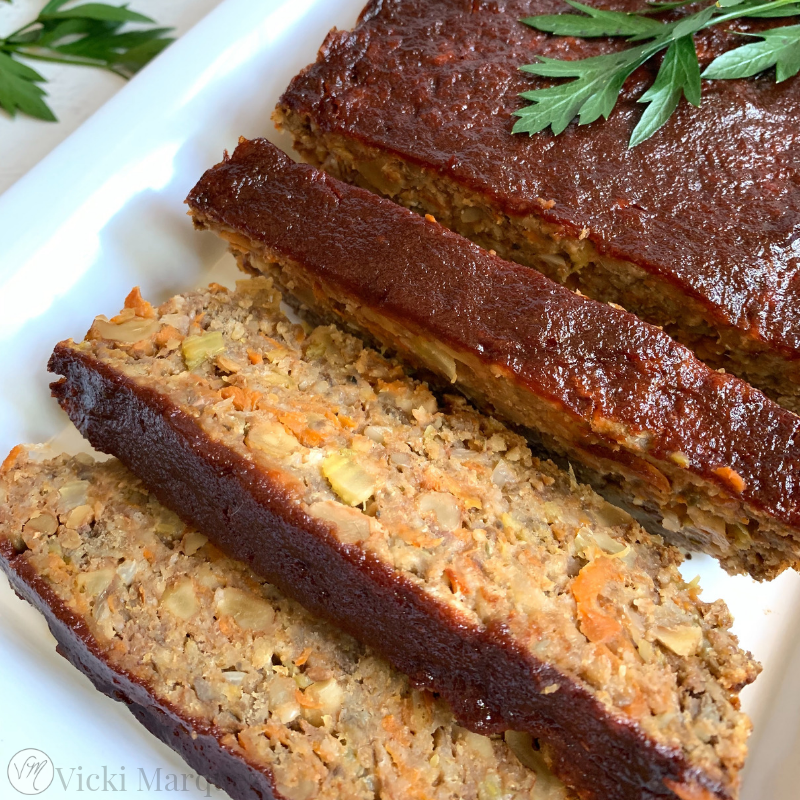 Apple Walnut Lentil Loaf
