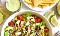 Taco Salad w/ Spiced Lentil Meat