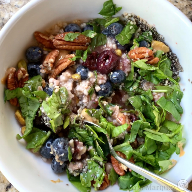 Loaded Spinach Oatmeal